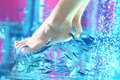 Pedicure fish spa - rufa garra Stock Image
