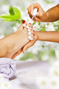 Pedicure in the spa salon Royalty Free Stock Photography
