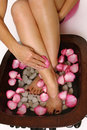 Pedispa - indulgence for feet Royalty Free Stock Photo
