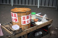 Pedlar stall a with tofu to sell in china asia Royalty Free Stock Photo