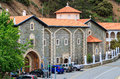 Pedoulas cyprus greece may kykkos monastery entrance near in Royalty Free Stock Images