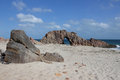 Pedra furada in jericoacoara brazil Royalty Free Stock Images