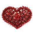 Pedra preciosa do coração Foto de Stock