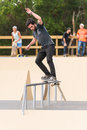 Pedro mano ilhavo portugal august during the ilhavo s skateboarding championship and the new skatepark opening Stock Photo