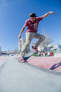 Pedro roseiro cascais portugal april during the th stage of the dc skate challenge by fuel tv Royalty Free Stock Images