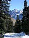 Peeking Peaks Royalty Free Stock Image