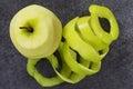 Peel of apple Royalty Free Stock Photo