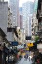 Peel street of Hong Kong Royalty Free Stock Photo