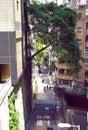 Peel street of Mid Levels at Hong Kong Royalty Free Stock Photo