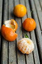 Peeled clementine Royalty Free Stock Image