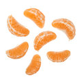 Peeled mandarin isolated Royalty Free Stock Photo