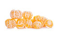 Peeled mandarin isolated on white background Stock Image