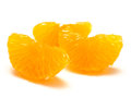 Peeled mandarin orange segments white background Stock Photos