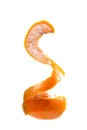 Peeled orange beautiful shot of on white background Royalty Free Stock Images