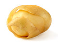 Peeled potato on white background Royalty Free Stock Photography