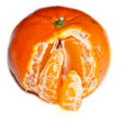 Peeled tangerine Stock Photography