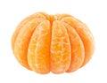 Peeled tangerine isolated on white Stock Photos