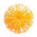 Peeled tangerine or mandarin fruit isolated on white background Stock Image