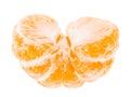 Peeled Tasty Sweet Tangerine Orange Mandarin Fruit Royalty Free Stock Photo