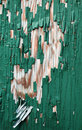 Peeling green paint over wood door Royalty Free Stock Photography