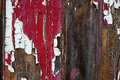 Peeling paint background red and white peeoling Royalty Free Stock Images