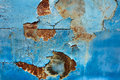 Peeling paint old car door and rusty texture background Royalty Free Stock Photo