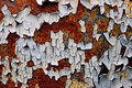 Peeling paint on rusty metal Stock Photography