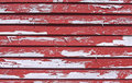 Peeling red paint Royalty Free Stock Image
