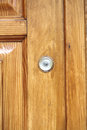 Peep hole in the wooden doo Royalty Free Stock Photography