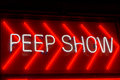 Peep show sign in amsterdam Stock Photo