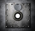 Peephole or peep hole in metal armored door Royalty Free Stock Photo