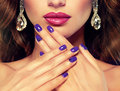 Pefect, bright lips. Royalty Free Stock Photo
