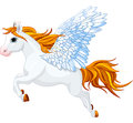 Pegasus cute winged horse of greek mythology Stock Photography