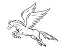 Pegasus horse Royalty Free Stock Photos