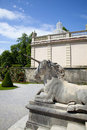 Pegasus in Mirabell gardens Royalty Free Stock Images