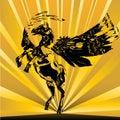 Pegasus Sunburst Stock Photography