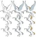 Pegasus Unicorn Stallion Line ...