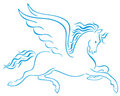 Pegasus Winged Horses Silhouet...