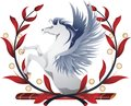Pegasus Wreath Royalty Free Stock Photography