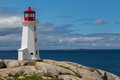Peggy's Cove Lighthouse Royalty Free Stock Photo