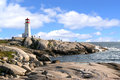 Peggy's Cove lighthouse, Nova Scotia Royalty Free Stock Photo