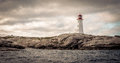 Peggy's Cove Lighthouse in Nova Scotia, Canada Royalty Free Stock Photo
