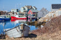 Peggy s cove the small village on nova scotia coast Stock Images