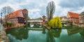 Pegnitz River in Nuremberg Royalty Free Stock Photo