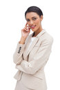 image photo : Pensive business woman standing