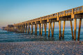 Peir at Panama City Beach, Florida at Sunrise Royalty Free Stock Photo