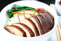 Peking duck rice topping Royalty Free Stock Photo