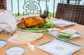 Peking duck served on a table in a restaurant Stock Photography