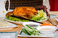 Peking duck served on a table in a restaurant Stock Photos