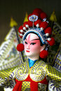 Peking opera doll close up Stock Photos